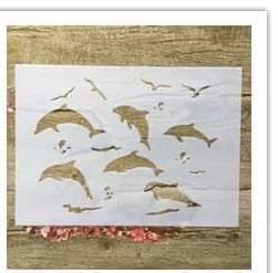 šabloonid delfiinid A4